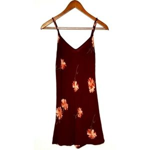 REFORMATION Auburn Floral Print Sheath Mini Dress